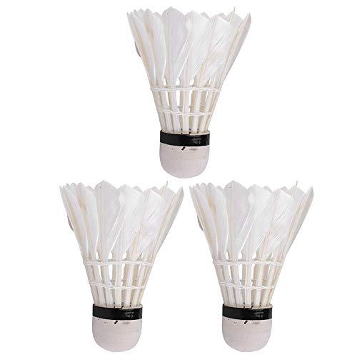 SANON Badminton-Federbälle Gänsefeder-Federballbälle mit Großer Stabilität Und Haltbarkeit Birdies-Bälle für Indoor-Outdoor-Sporttrainingsspiele