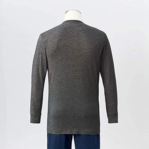 [ベルメゾン]あったかインナーホットコット綿混クルーネック長袖C21254メンズ杢チャコールM