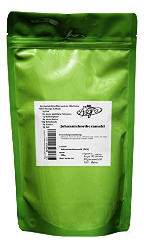 100g Johannisbrotkernmehl - E410 - mind. 1 Jahr MHD - Bindemittel für gutes Gelingen - Backen und Kochen wie die Profis - im praktischen Beutel mit Zip-Verschluß - von Asgra