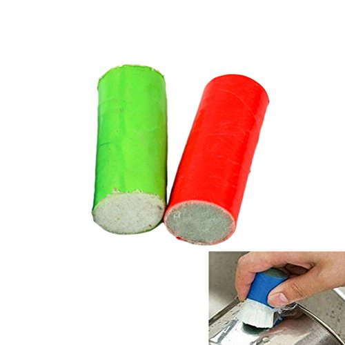 OUNONA 2 cepillos con fibra de vidrio para limpieza de óxido