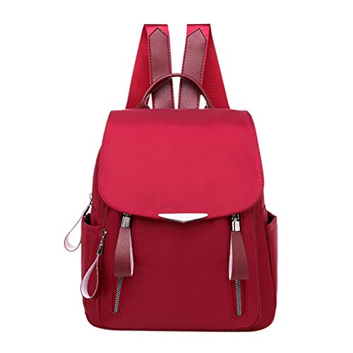 A-hyt Cómodas y cómodas mochilas para mujer, sólidas bolsas para niñas, impermeables, mochilas para ordenador portátil, fácil senderismo (color: STYLE3, tamaño: A)