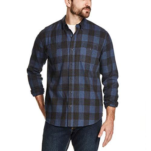 Weatherproof Vintage Mens Flannel Shirt (Vintage Indigo, Large)