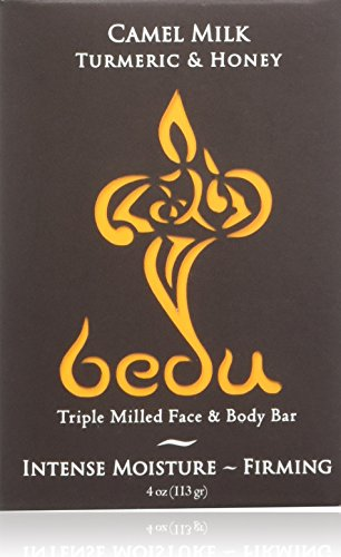 One With Nature - Bedu Camel Milk Triple Milled Face & Body Bar Soap Turmeric & Honey - 4 oz.