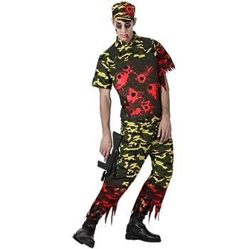 Atosa 14904 Disfraz militar sangriento adulto M-L, talla hombre ...