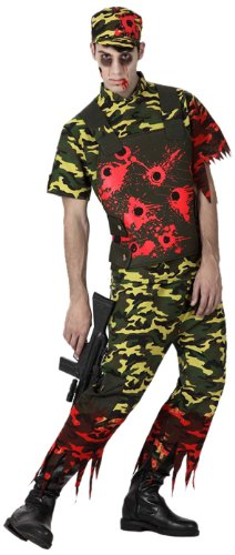 Atosa 14905 Disfraz militar sangriento adulto XL, talla hombre
