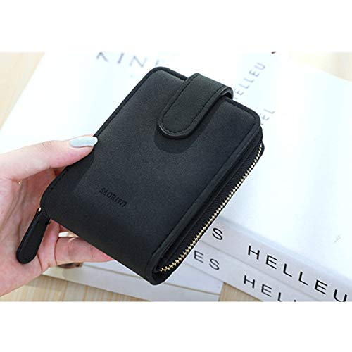 KDXBCAYKI Mini Purse Unisex Opvouwbaar dubbelpapier luchtreiniger munten multimode pakketten zwart.
