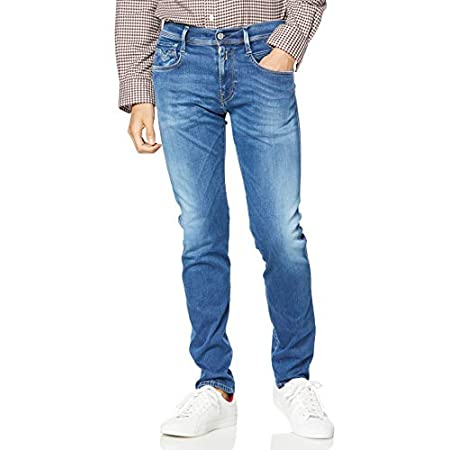 Replay Herren Anbass Jeans Blau