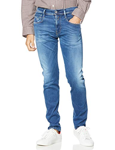 Replay Herren Anbass Jeans, Blau (Medium Blue 9), 36W / 32L