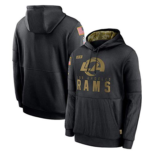 Jaguars Patriots Rams und Falcons Rugby-Trikot, Pullover für Herren, Sweatshirt Hoodies American Football Sweater Langarm (S-XXXL) Gr. L, Rams