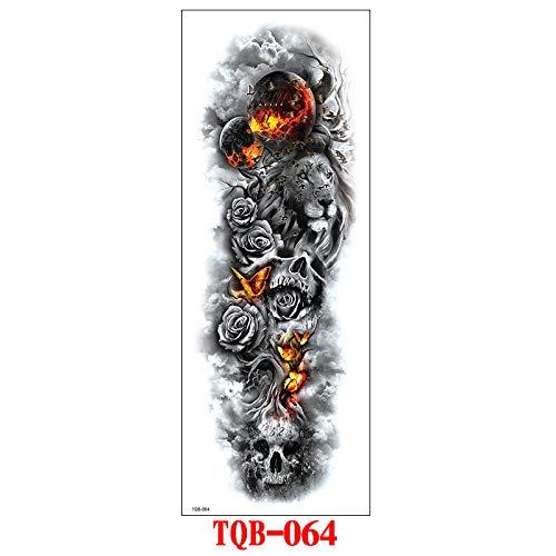 tzxdbh 3pcs- Nuevas Pegatinas de Tatuaje de Brazo Completo Pegatinas de Tatuaje...