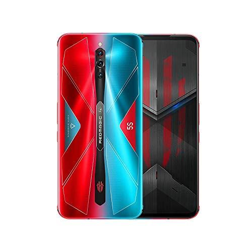 ZTE Nubia Red Magic 5S グローバル版 / 5G / 256GB+12GB RAM / ゲーミングスマホ / ICE 4.0 Active Liquid-Cooling / 144Hz Refresh Rate / Qualcomm Snapdragon 865 / 6.65インチ AMOLEDディスプレイ/ 64MPトリプルカメラ / 日本語対応 / 5G対応 / SIMフリー スマートフォン (Pulse / レッド&ブルー)