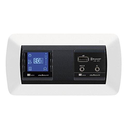 Egi Audio Solutions 41020, Kit de Sonido Wall Radio, Color Blanco y Negro, 1.2'