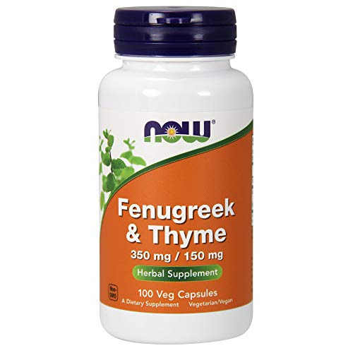 Now 500mg Fenugreek and Thyme Herbal Supplement 100 Veg Capsules - Lot of 4