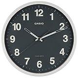 CASIO(カシオ) 掛け時計 電波 グレー 直径30.5cm アナログ 夜間秒針停止 IQ-1012J-8JF