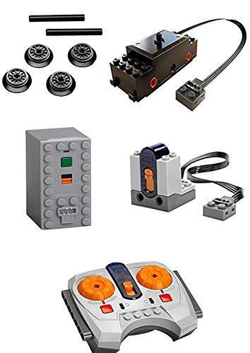 PPTOOL LEGO Power Funktionen Zugmotor Set inkl. IR-Empfänger, Fernbedienung & Batteriebox