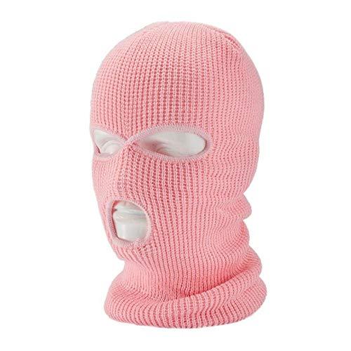 Paul Nal Invierno Cálido Esquí Ciclismo 3 Agujeros Capó Máscara Facial Completa Senderismo Al Aire Libre Máscara Facial Cálida-Rosa-A