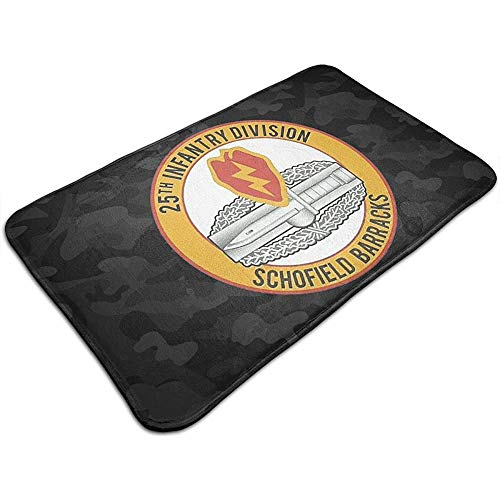 qinzuisp deurmat 25. Infanteriedivision CIB Combat Action Badge antislip keuken badmat deurmat vloerkleed anti-slip speciaal 50 x 80 cm kantoor Levendig