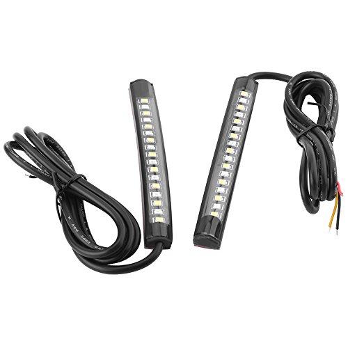 2 strisce di luci LED universali flessibili per auto, 12 V 17 SMD, luci di stop, indicatori di direzione e luci posteriori, per moto, bici, ATV, auto e camper