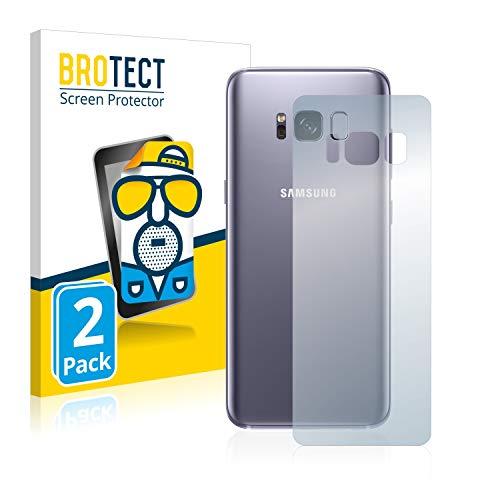 BROTECT 2X Entspiegelungs-Schutzfolie kompatibel mit Samsung Galaxy S8 (Rückseite) Bildschirmschutz-Folie Matt, Anti-Reflex, Anti-Fingerprint