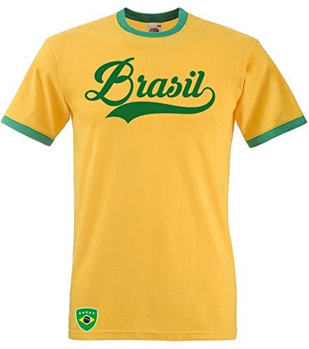 Aprom Brasil Ringer Retro TS WM EM Soccer - Camiseta de...