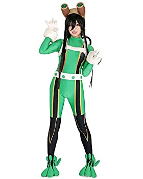 miccostumes Women s Froppy Tsuyu Asui Cosplay Costume Suit  L  Green