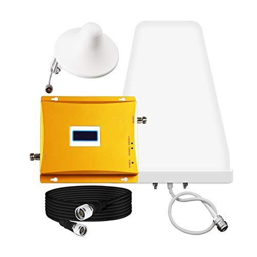 2G 4G Teléfono celular Signal Booster, GSM DCS Teléfono celular Kit de refuerzo para el hogar y la oficina, Repetidor de amplificador de señal de teléfono móvil 900/1800 MHZ Todos los operadores de re