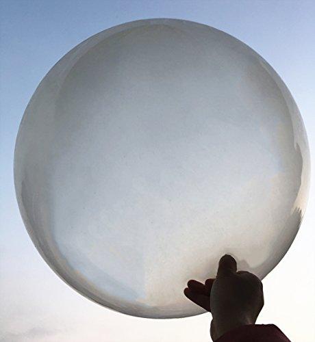 5 große Ballons - 36 Zoll Runde Ballons - Extra große und Dicke Ballons Wiederverwendbare Riesen Latex Ballons für Hochzeit / Geburtstag Party Dekorationen Festivals Weihnachtsschmuck (klar)