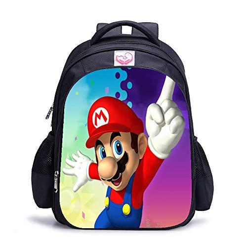 Appiu 16 inch cartoon school bag for men and women, cartoon backpack, school, office, travel, (Color : 6)
