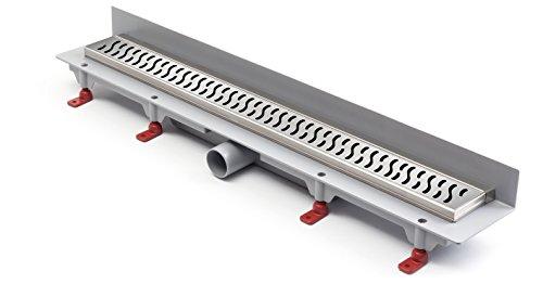 Duschrinne Bodenablauf Edelstahl Ablaufrinne Badablauf flach 75cm, Modell: Harmony-Wandmontage
