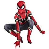 El Niño Vengadores Spiderman 3D Fancy Dress Traje, Carnaval De Halloween Cosplay Body, Unisex Para...