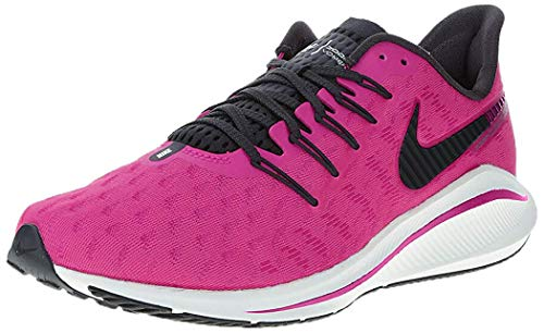Nike Air Zoom Vomero 14, Zapatillas de Atletismo Mujer, Multicolor (Pink Blast/Black/True Berry/White 602), 42 EU