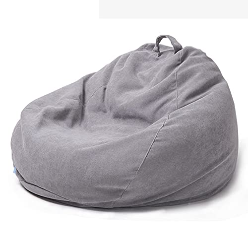 OWXNCSW Bean Bag, Beanbag Chair, Large Bean Bag Gamer Recliner Outdoor and Indoor Adult, Lazy Lounger Large Bean Bag, Home or Garden Bean Bags,gray-XL-EPS