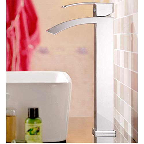 Bidet-Armaturen Waschtischarmaturen Pro New ConceptDeckmontageWasserfall MessingWaschbecken MischbatterieChrom WasserhahnCODE 7033