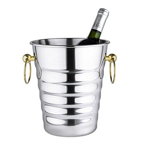 FTC Ice Bucket Spieß Weinfass Edelstahl Eiskübel Champagner Rotwein Bar Bar KTV Nachtclub Gold...