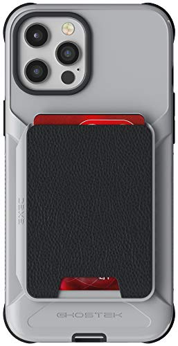 """Ghostek Exec Magnetic Wallet Compatible with iPhone 12 Pro Max Case with Card Holder Easy Slide-Out for Wireless Charging Built-in Magnet is Great for Car Mounts 2020 iPhone12 Pro Max (6.7"""") (Gray)"""