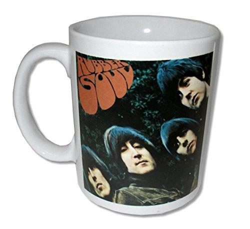 Beatles Rubber Soul White Ceramic Collectible Coffee Mug