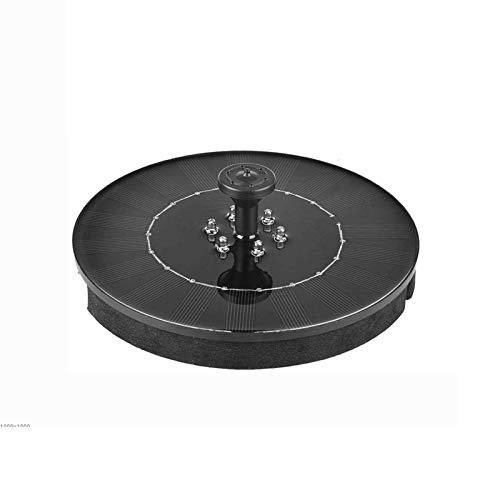 Adesign Bomba de Fuente Solar, con luz LED, Bomba de Agua con circulos con circulos Bomba de Agua Flotante con Ventosa Base para Birdbath, Estanque, Piscina, jardín