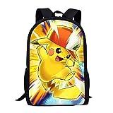 spArt Anime Pokémon Pikachu Sac à Dos Enfants Livre Sac à Dos Maternelle Cartable Sac à Dos pour Les Enfants Sac à Dos