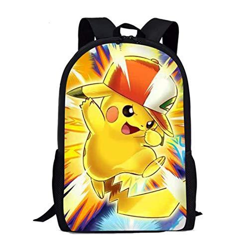 spArt Anime Pokémon Pikachu Sac à Dos Enfants Livre...