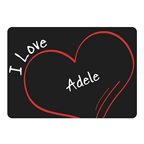 Multifanshop Mousepad Modern I Love Adele schwarz