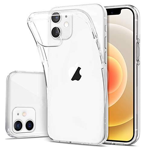 DOSMUNG Handyhülle kompatibel mit iPhone 12 Mini, Ultra Dünn Klar Silikon Gel TPU Soft Hülle [Stoßfeste] [Anti-Kratzt] Stoßstange iPhone 12 Mini Hülle 5,4 Zoll