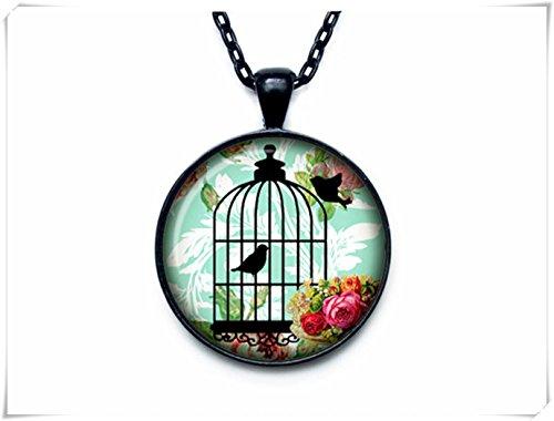 flowers and fruits Collar de Jaula para pájaros con Colgante de Jaula para pájaros