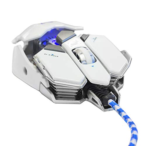 Woxter Stinger GX 250 M White -Ratón gaming profesional (Estructura metálica,AVAGO 5050,Diseño...