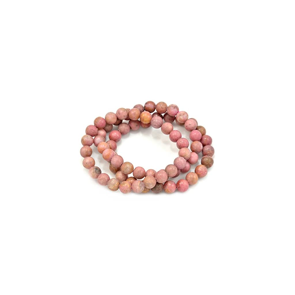 Rhodochrosite Beaded Gemstones Stretch Bracelets
