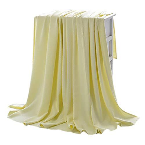 LXDWJ Manta Moderna de Fibra de bambú Niños Color sólido Mantas de Tiro Suave para Cama Sofá Cubierta Colcha decoración de Aire Aire condicional Manta (Color : B, Size : 180x200cm)