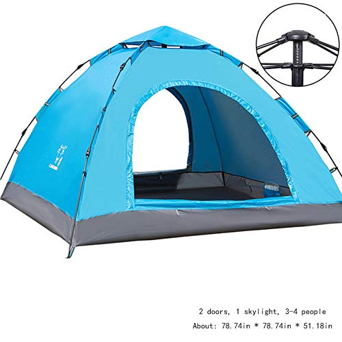Beach Tent for 3-4 Man, Anti UV Compact Tent, 3 Man Tent Waterproof Pop Up, for Beach, Garden, Camping, Fishing, Picnic, Outdoor, Hiking Mountaineering Travel, The Perfect Choice For Festivals,B2