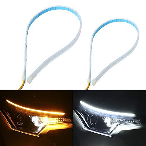 Pro LED Strip DRL Daytime Running Light Car Fog Day Driving Lamp /& Lights Black