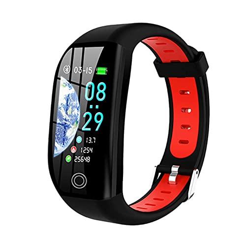 QIXIAOCYB F21 - Pulsera inteligente para hombre y mujer con GPS, seguimiento de actividad física, impermeable, monitor de sueño, pulsera deportiva inteligente, C,