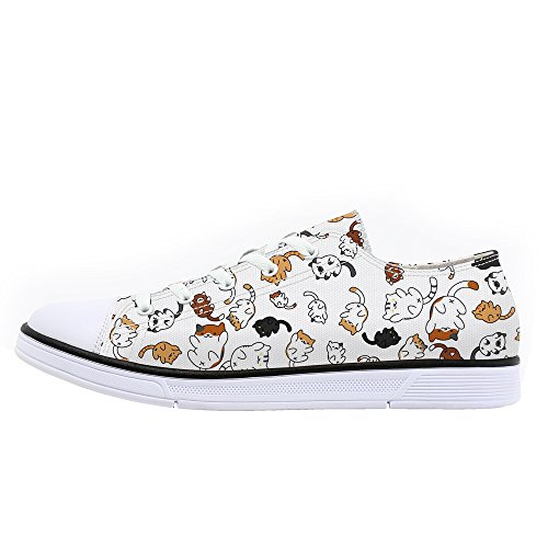 FIRST DANCE Shoes for Women 2019 Spring Shoes Animal Printed Cat Sneakers Shoes for Ladies Low Top Shoes Cute Dog Print Shoes 7.5US