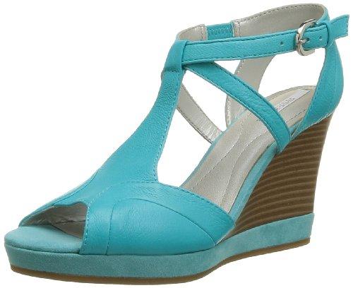 Geox D Sibilla S. A, Sandali donna, Blu (Blau - Turquoise)), 35